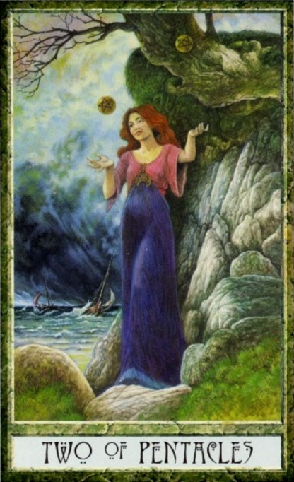 Druidcraft Tarot Two of Pentacles